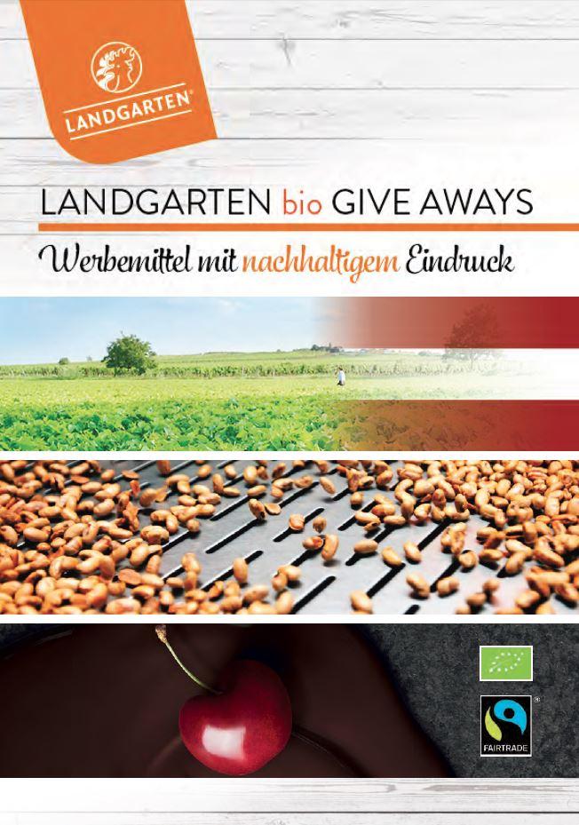 Landgarten - exklusive Give Aways Bio Schokolade